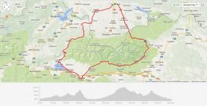 Mapa Rajdu wkoło Tatr